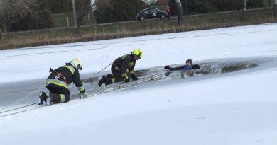 Jégről mentési gyakorlatot tartottunk