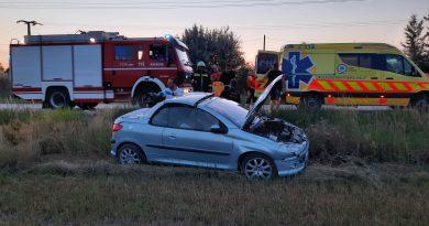 2021. június 19. Kiskunlacháza, 5204/4 – közlekedési baleset